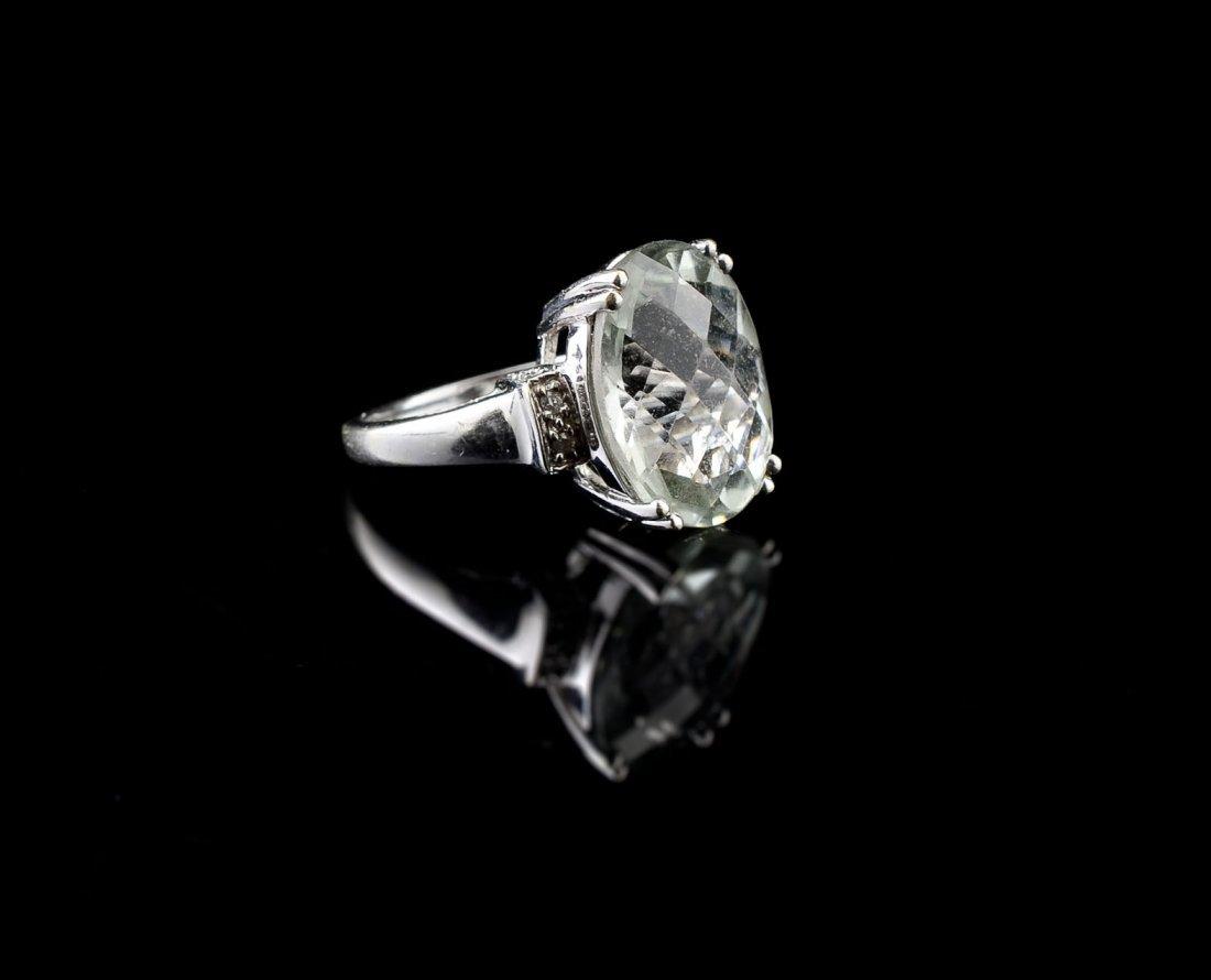 Ladies 14K Aquamarine Ring