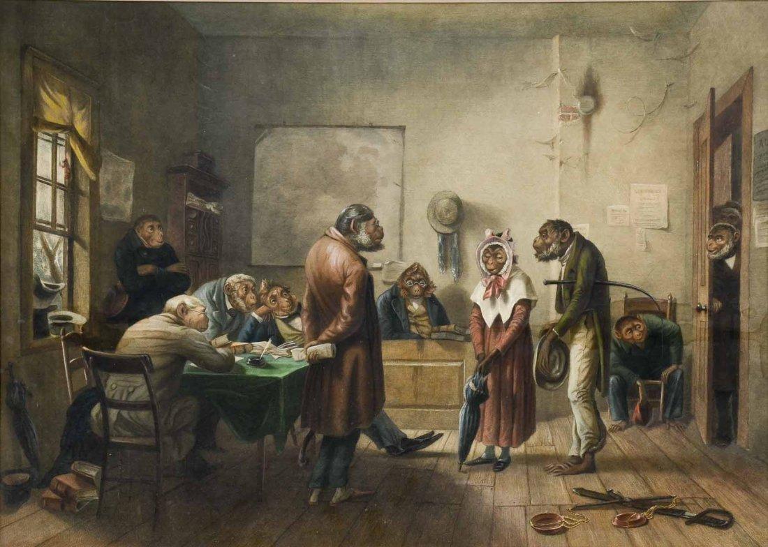 After William Holbrook Beard: Monkey Divorce