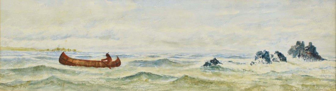 19th Century American Watercolor Seascape