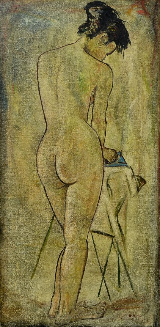 Angel Botello: Woman Ironing c. 1965