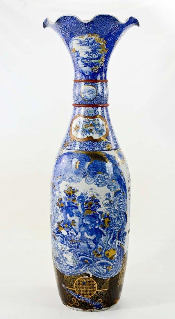 Monumental Japanese Palace Vase