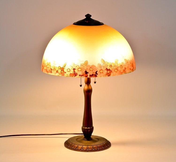 Handel Reverse painted table lamp