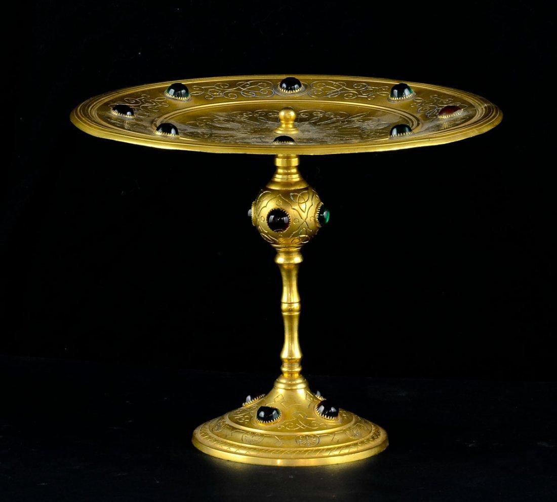 Gilt Bronze Jeweled Tazza