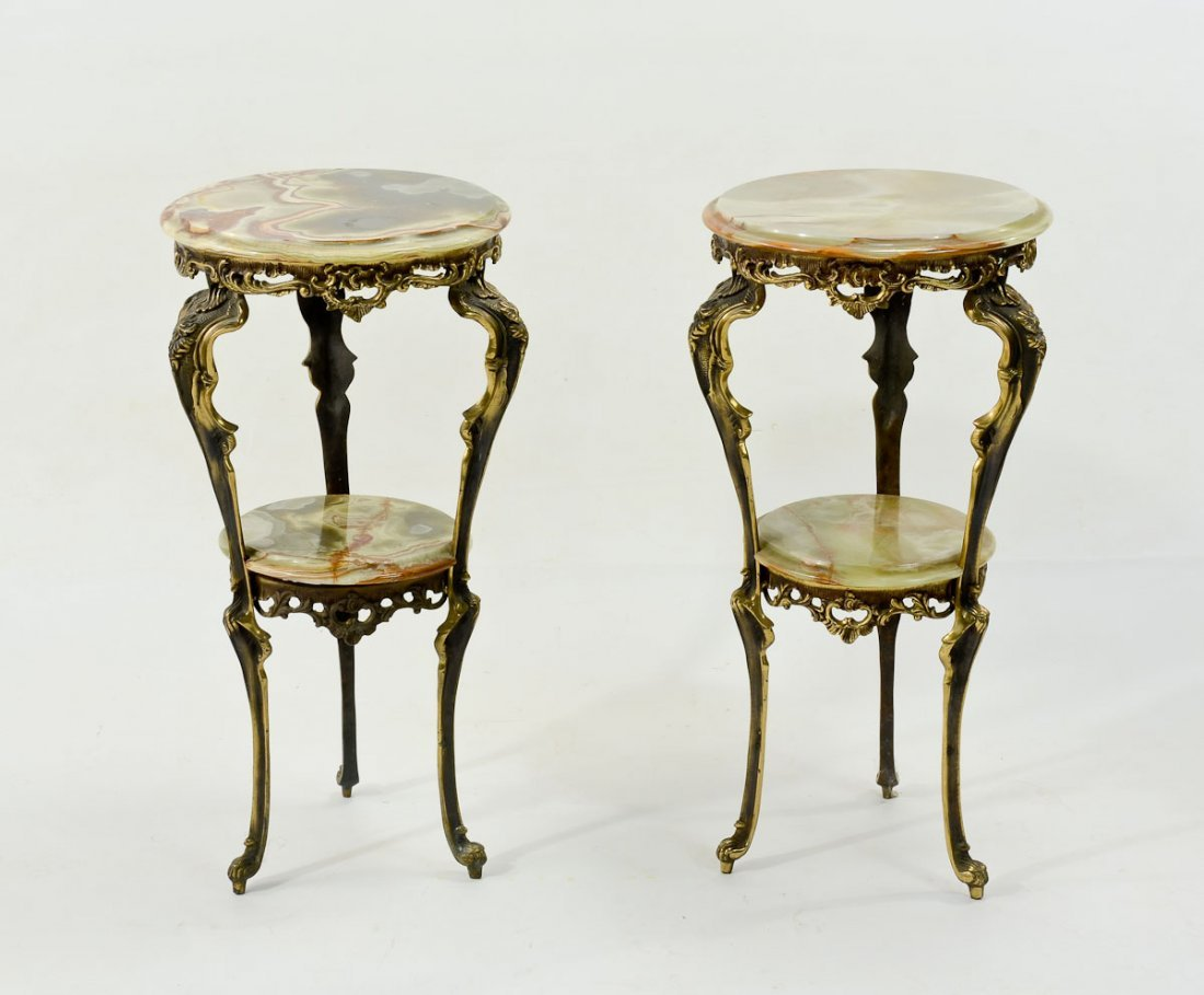 Italian Rococo Style Table and Two Stands