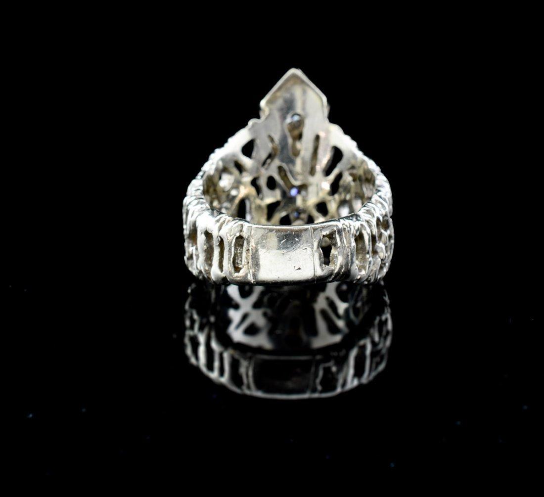 Ladies 14K Diamond Bark Ring