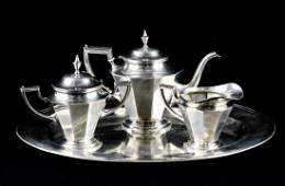 Alvin Sterling Silver Tea Set
