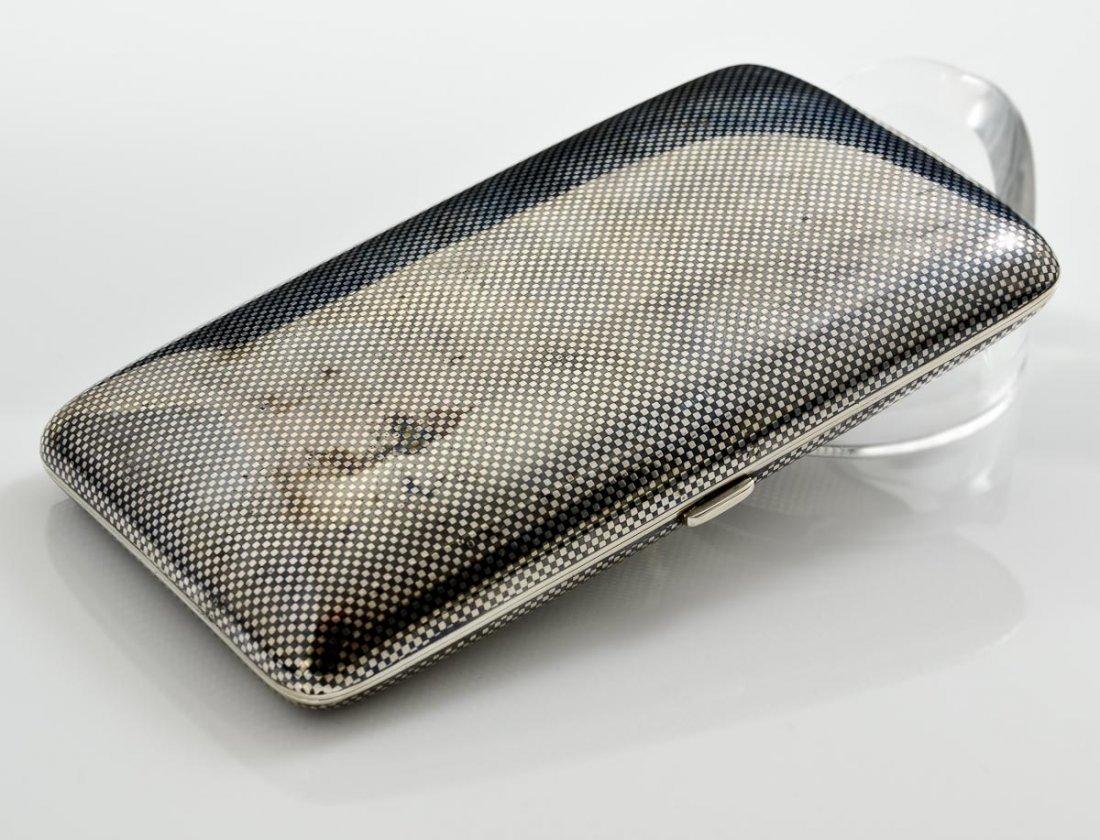 A German Silver Niello Cigar case