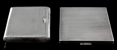 Two Danish Silver cases