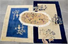 Three Chinese Wool Area rugs