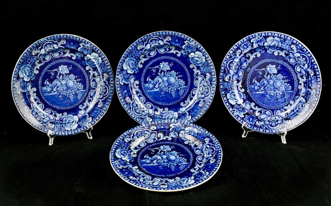 Four Staffordshire Plates