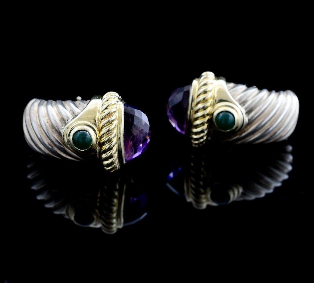 David Yurman 14K & Silver Earrings