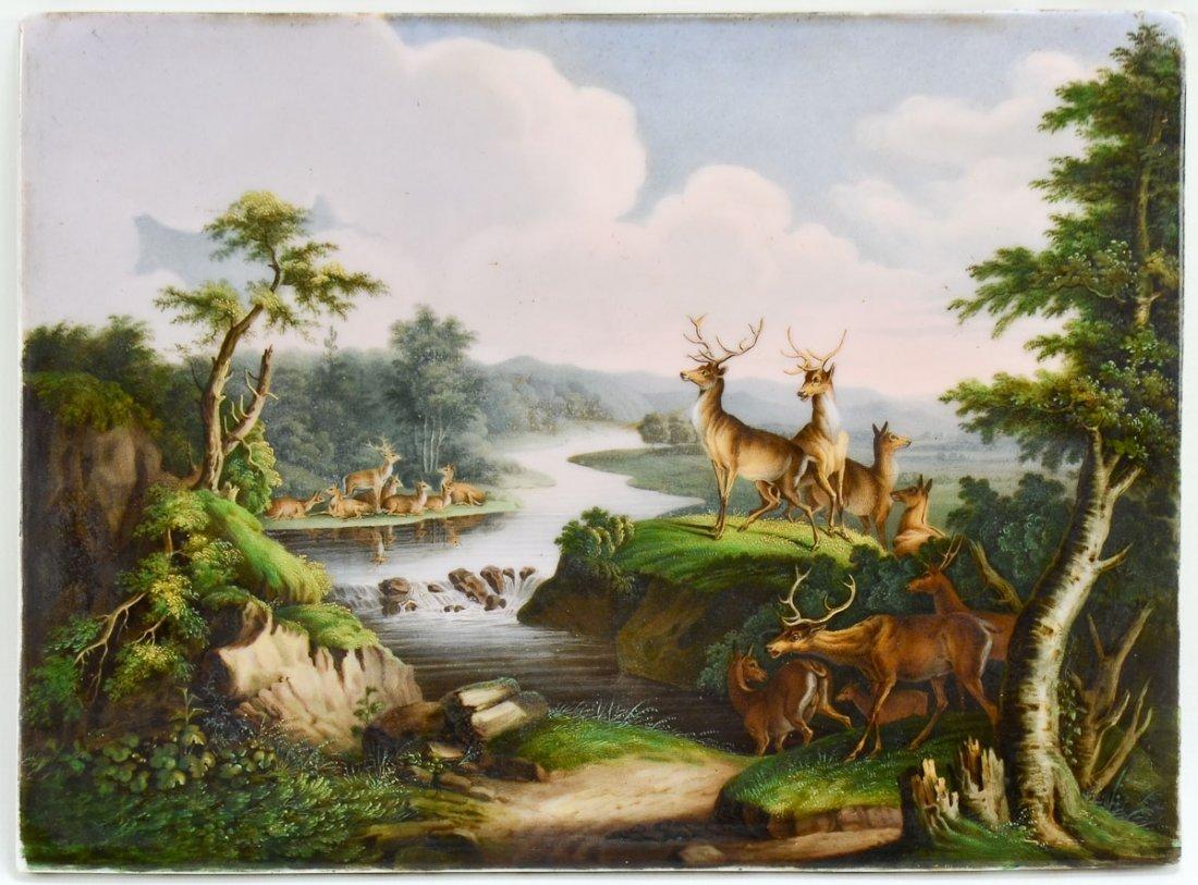 German Scenic Porcelain Plaque
