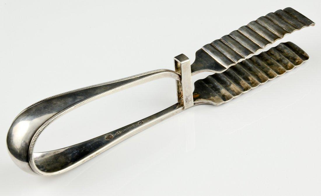 Danish Silver Asparagus Tongs