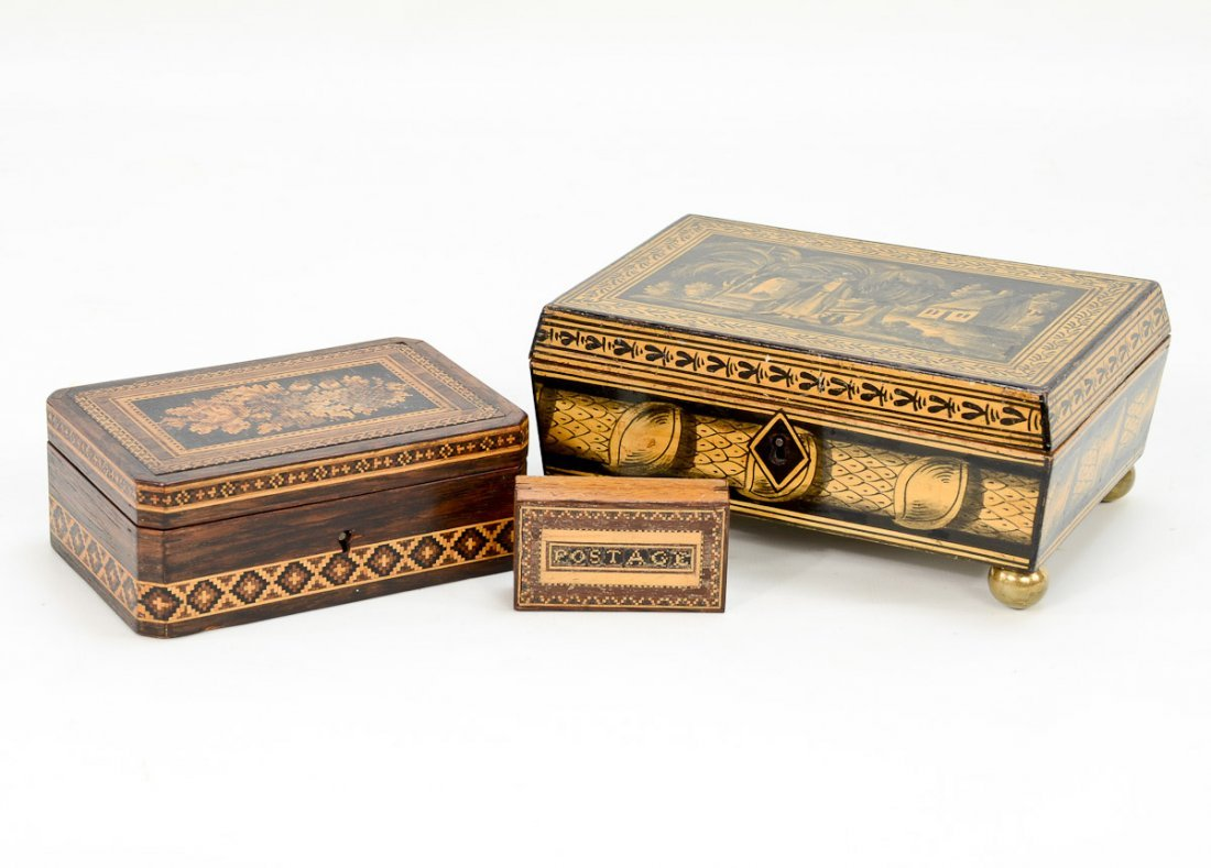 Group of Three English Boxes