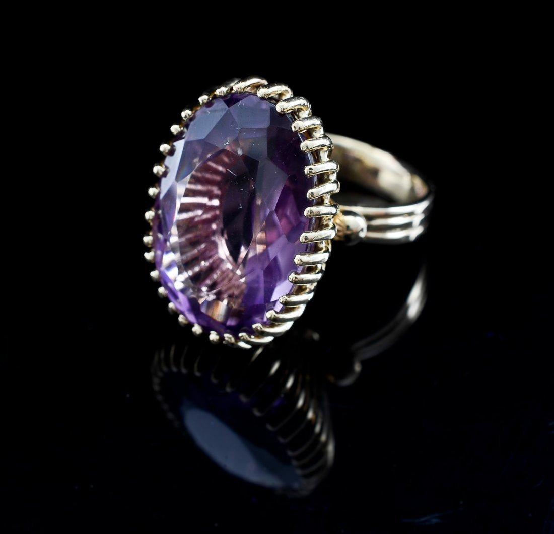 Ladies 14K Amethyst Ring