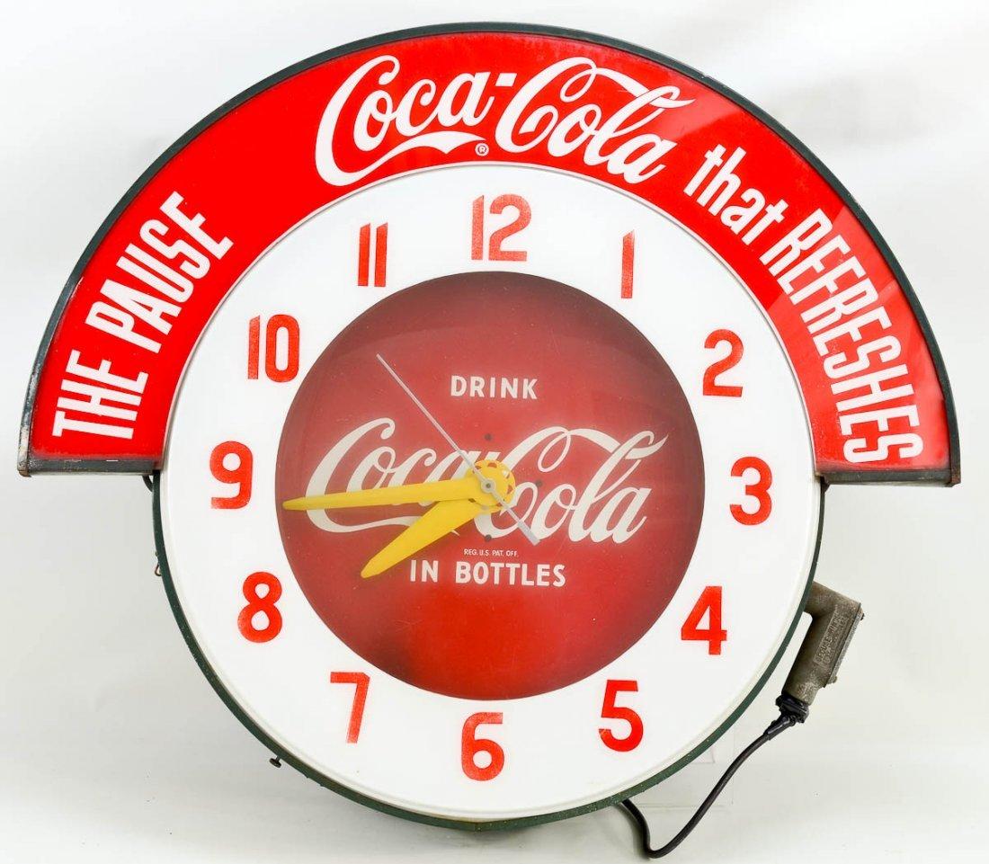 Original Coca Cola Clock Sign