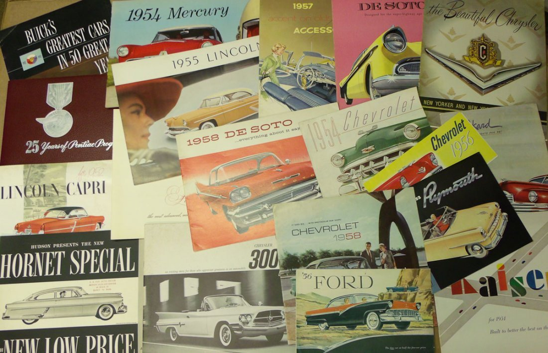 1950's US sales brochures