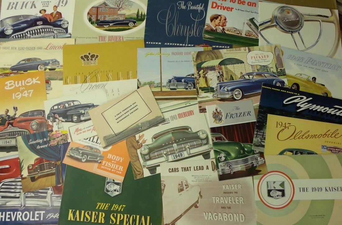 1940's US sales brochures,