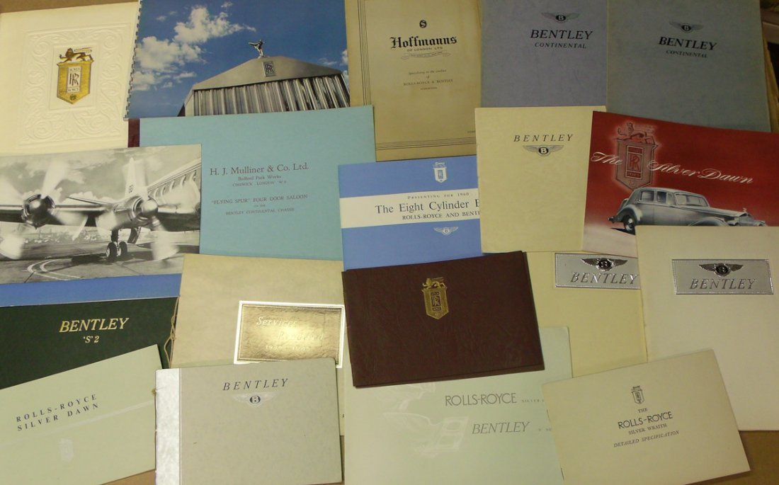 40's-50's Rolls & Bentley brochures