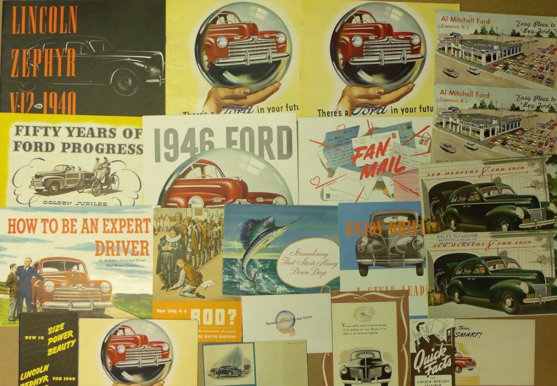 1941-1946 Ford, Mercury, Lincoln brochures