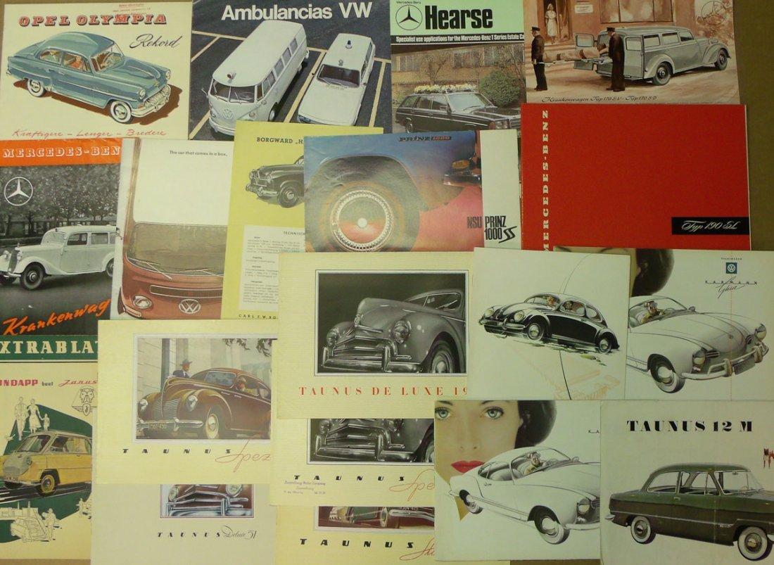 930's-1960's German car brochures
