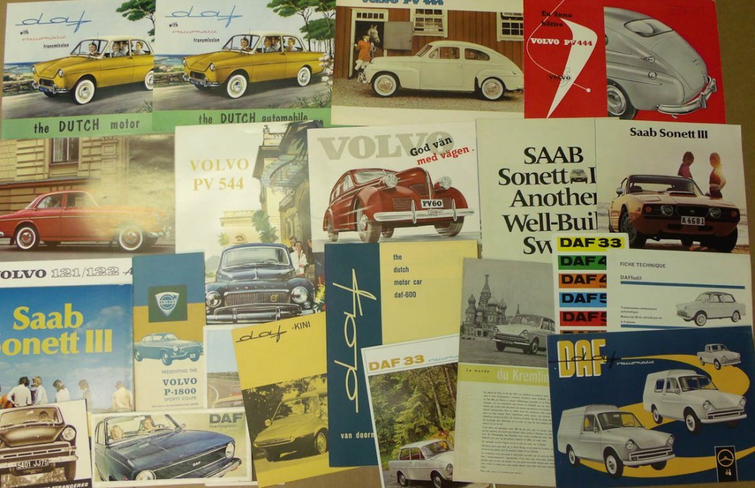Volvo, Saab and DAF brochures