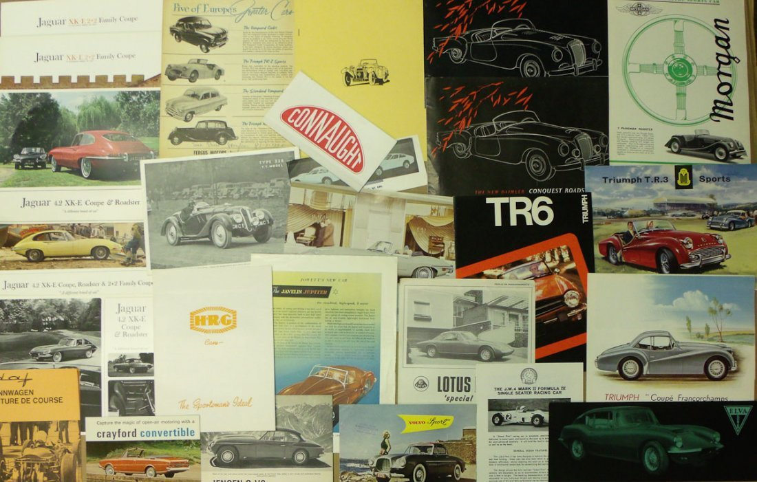British sports car brochures