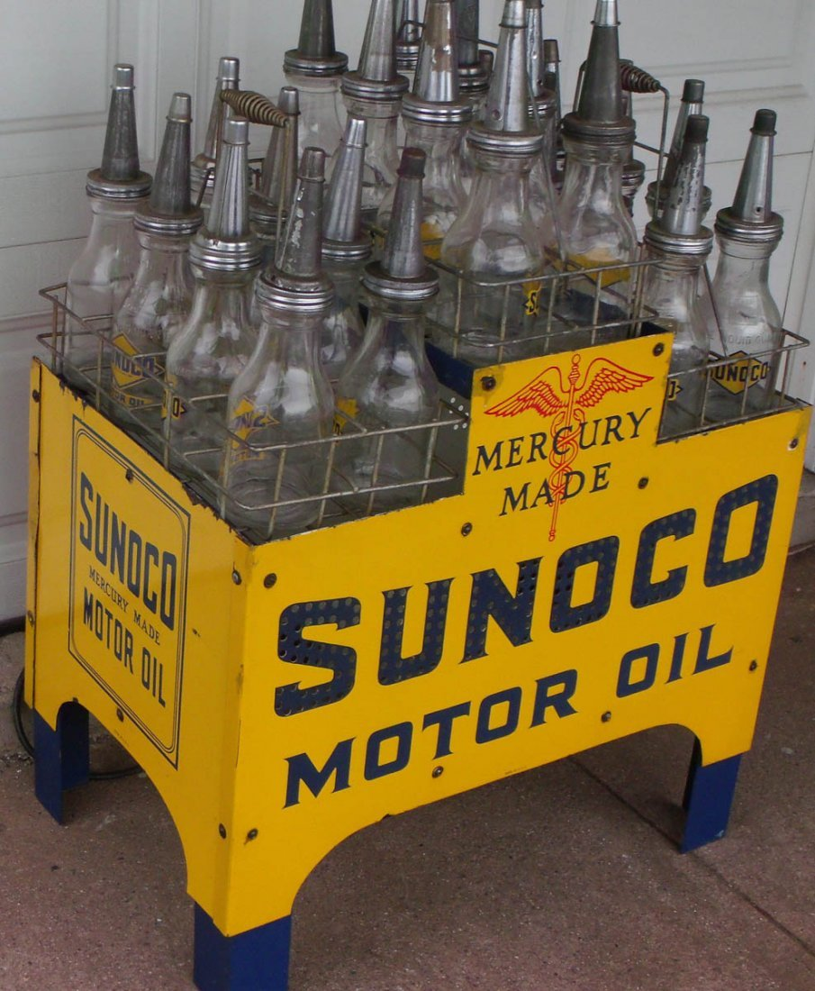 SUNOCO 24 bottle oil rack