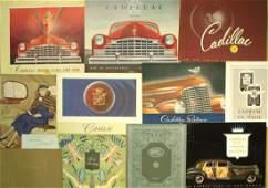 Late teens  1946 Cadillac brochures