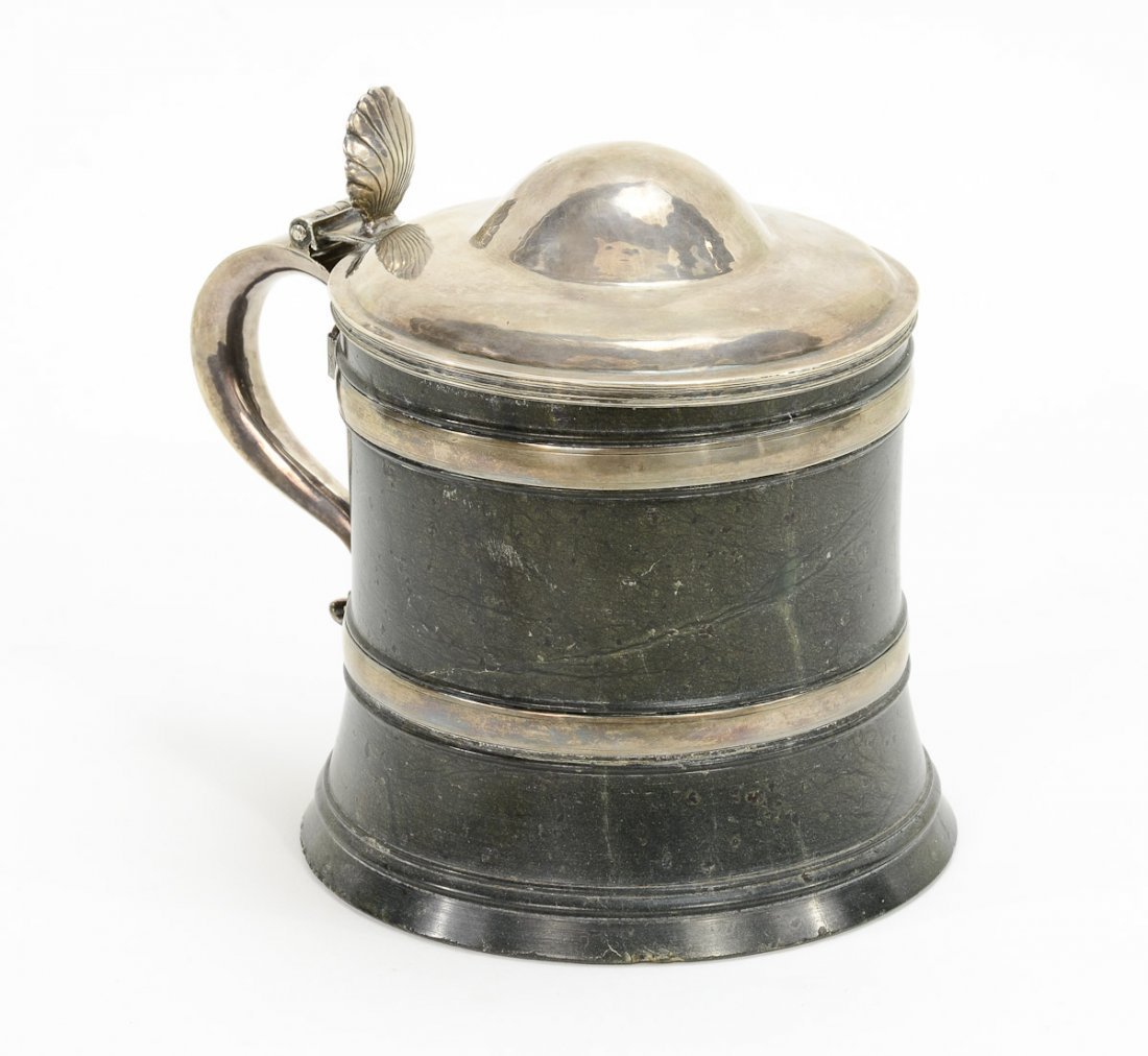 Early Silver and Serpentine Beer Stein