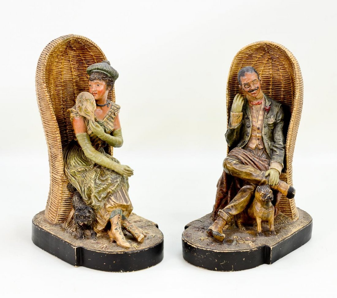 Pair of Terracotta Figures