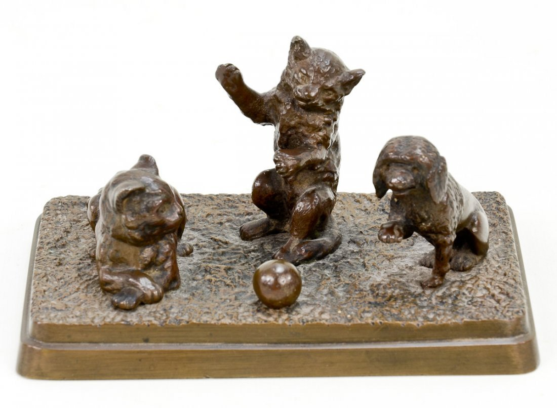 Bronze Sculpture of Cats
