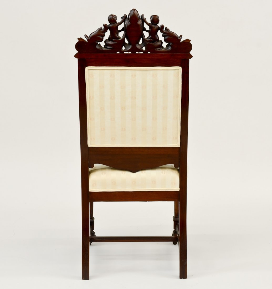 Victorian Carved Side Chair - 3