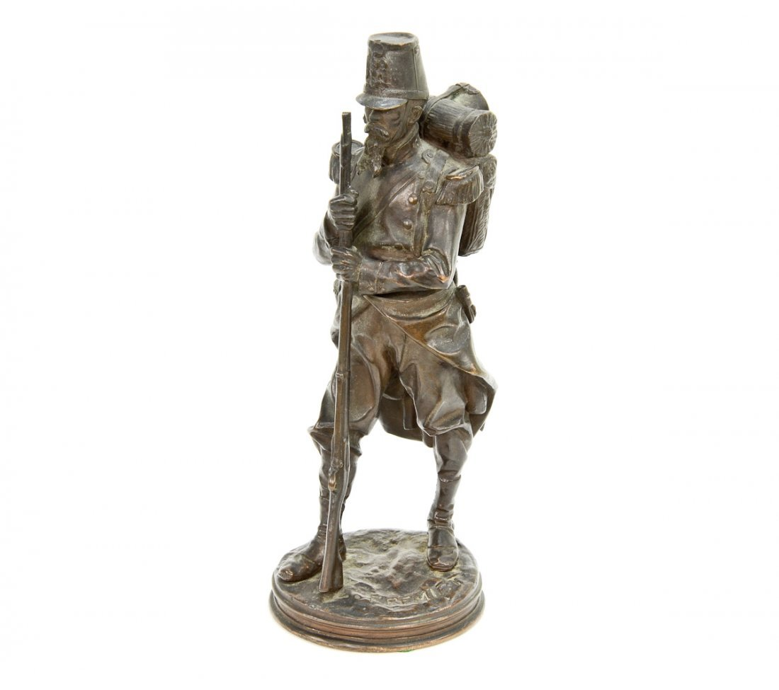 Emmanuel Fremiet Bronze Sculpture of Soldier
