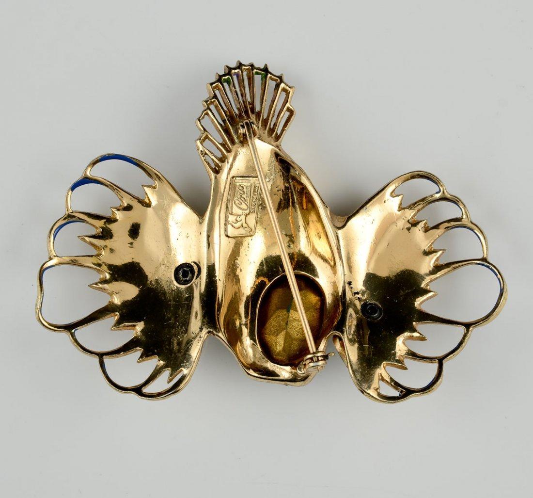 Coro Craft Sterling Rock Fish Pin - 2