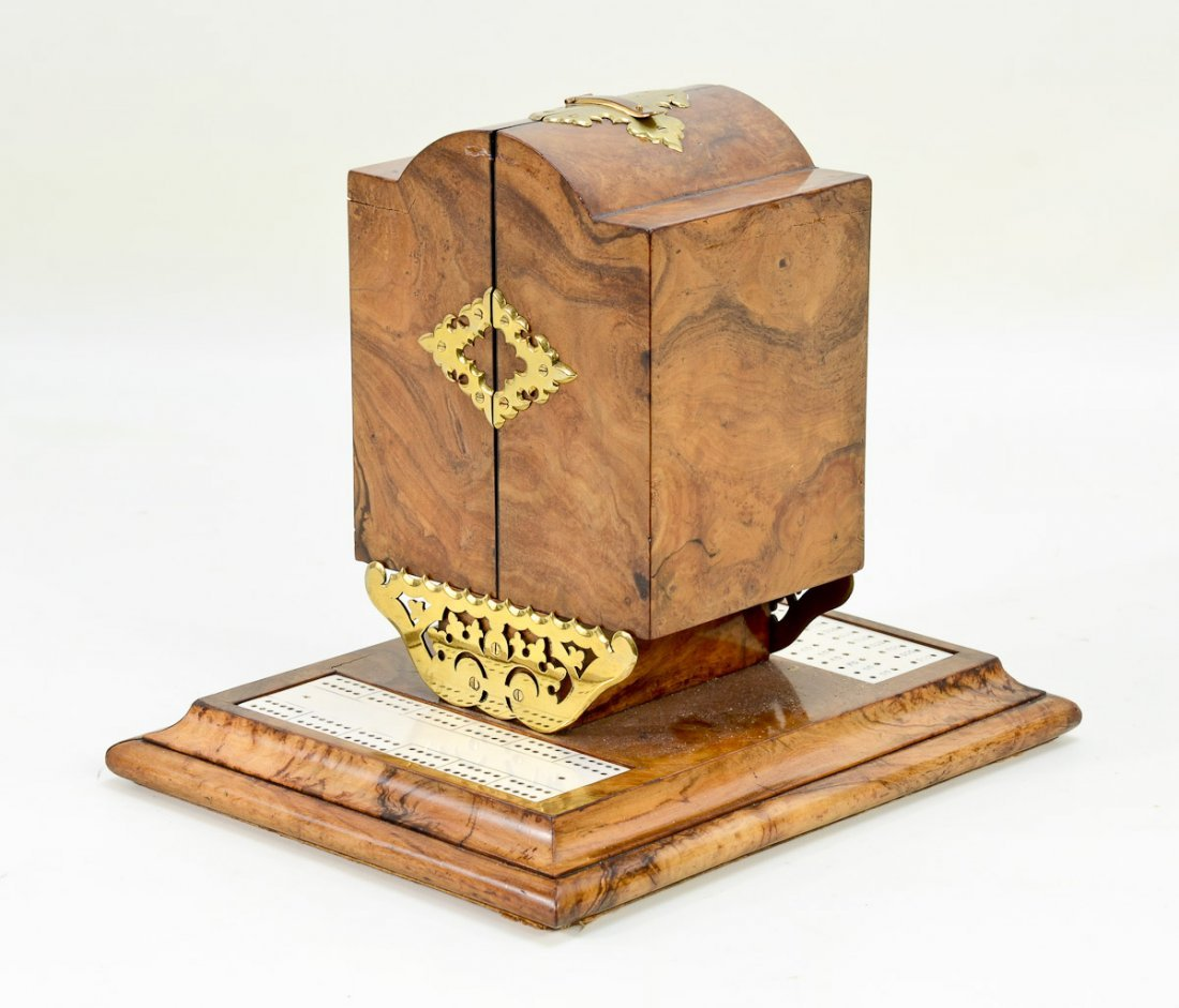 Decorative Wooden Game Box with Cards