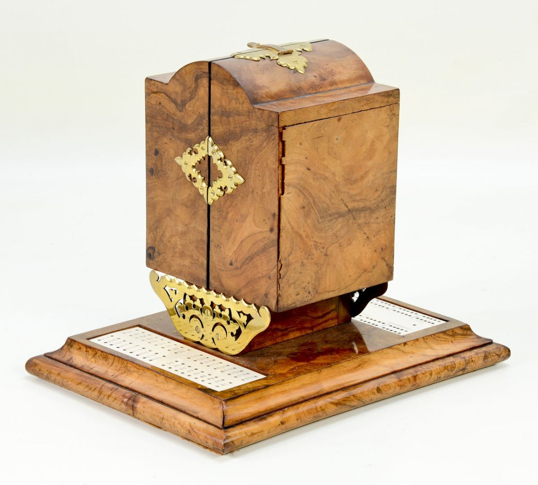 Decorative Wooden Game Box with Cards - 3