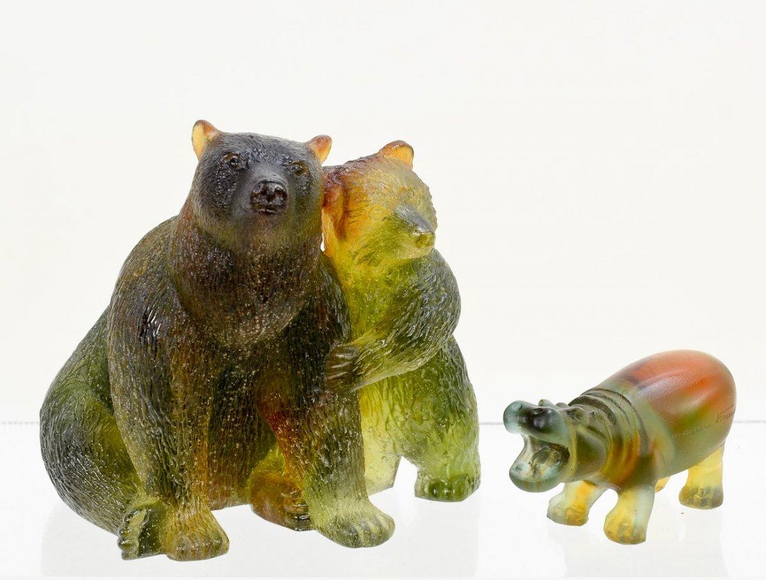 2 Daum Crystal Animal Figurines