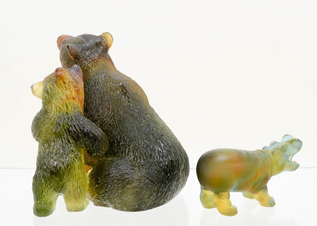 2 Daum Crystal Animal Figurines - 2