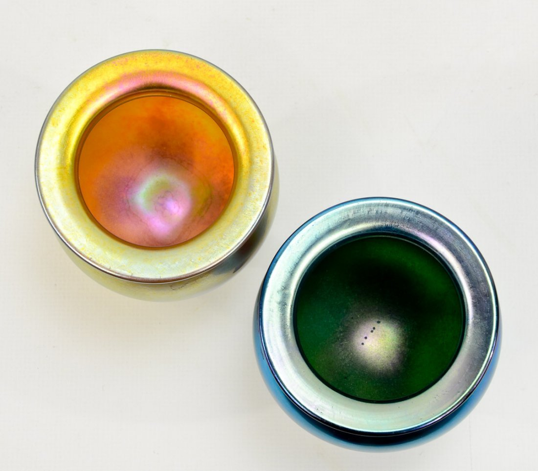 4 Lundberg Glass Iridescent Vases - 2
