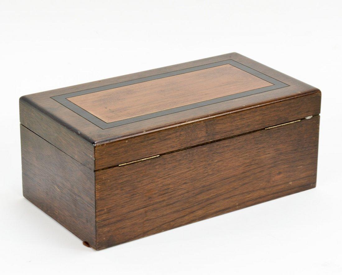 Vintage Poker Set in Wooden Box - 2