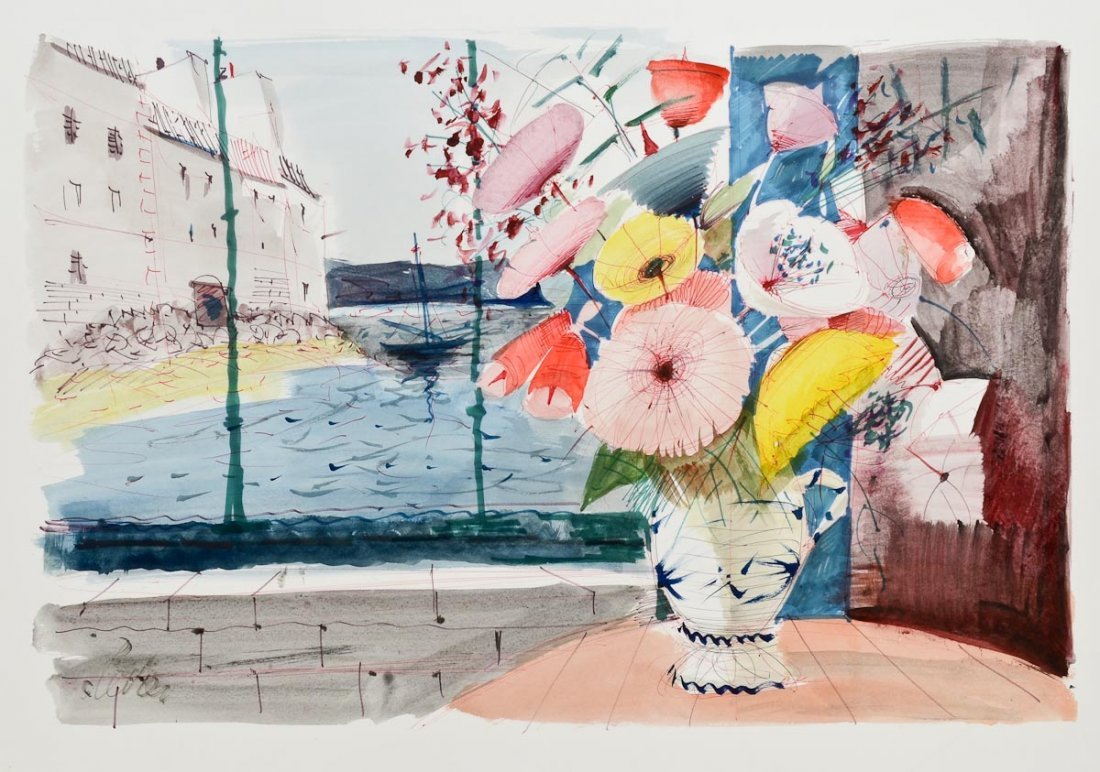 Charles Levier Watercolor Landscape