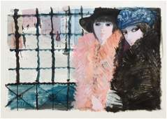 Charles Levier Watercolor 2 women