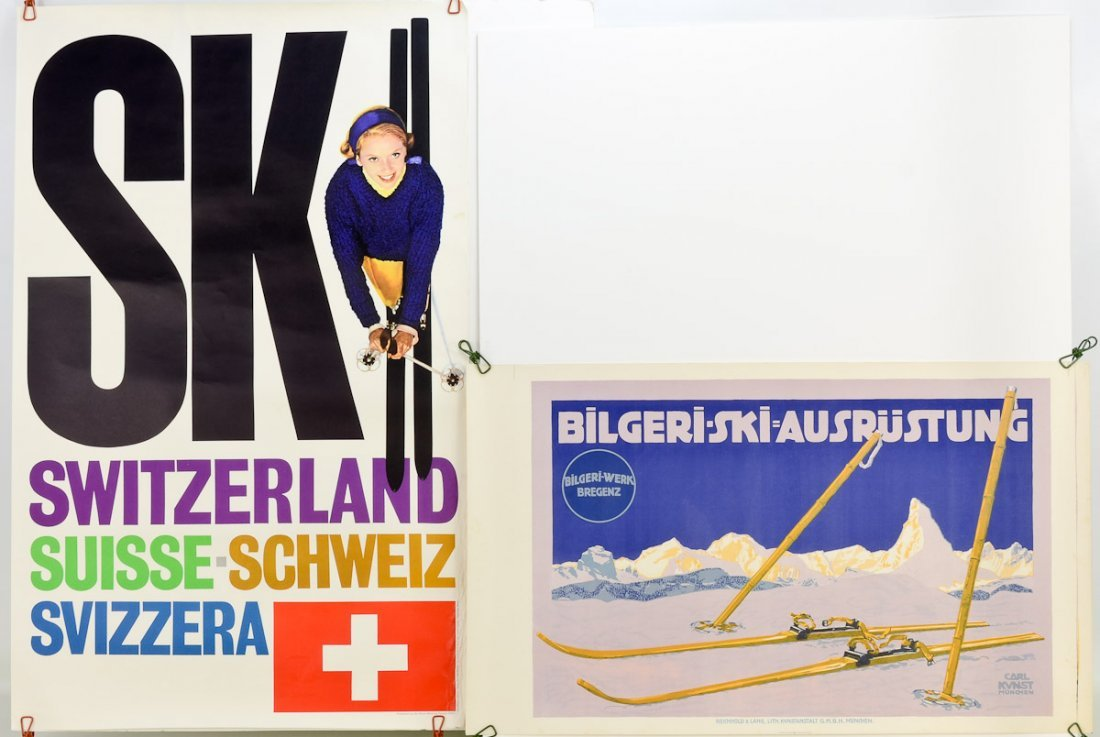 2 Vintage Swiss Travel posters