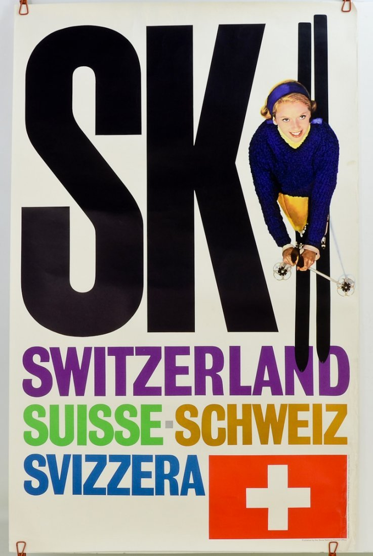 2 Vintage Swiss Travel posters - 4