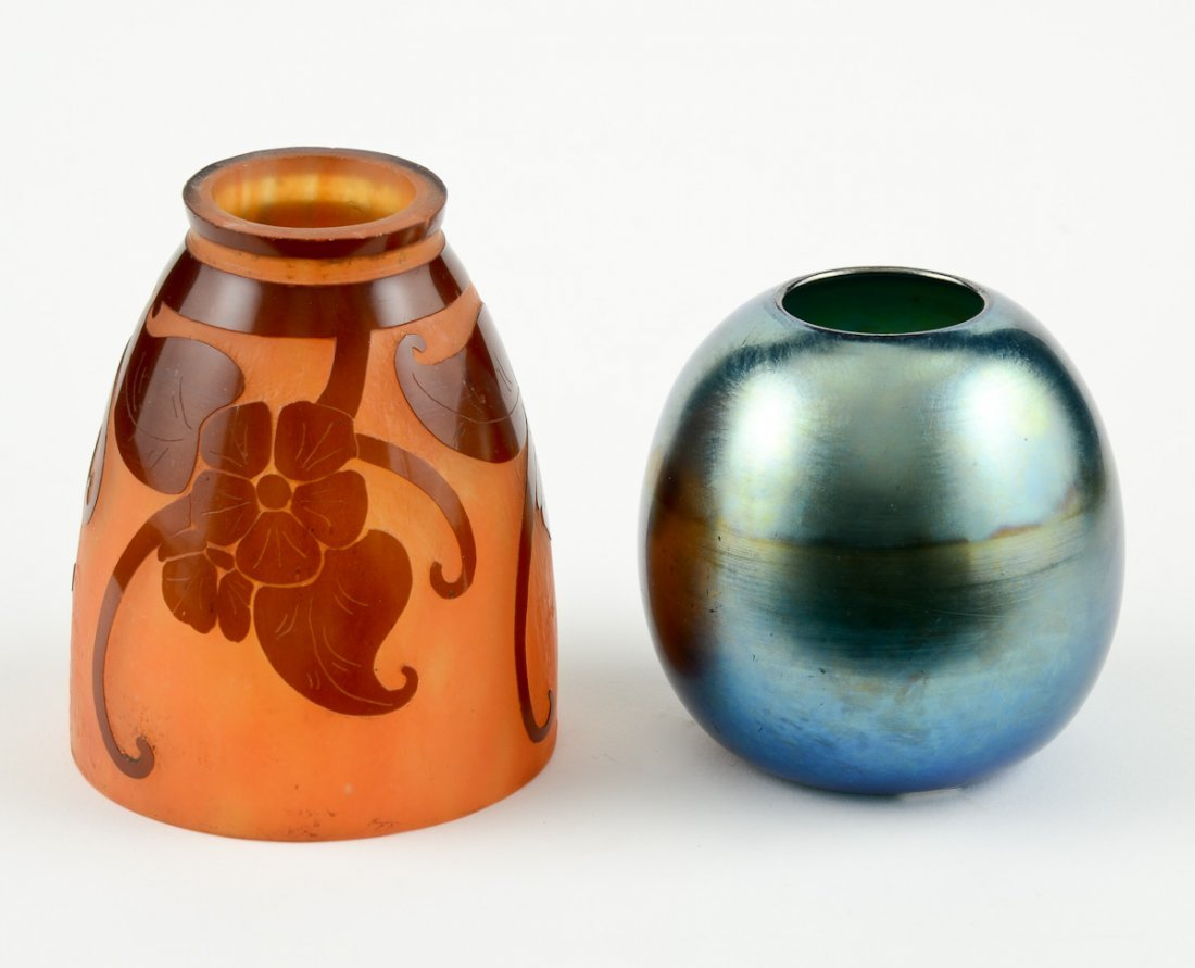 2 Pieces of Art Glass