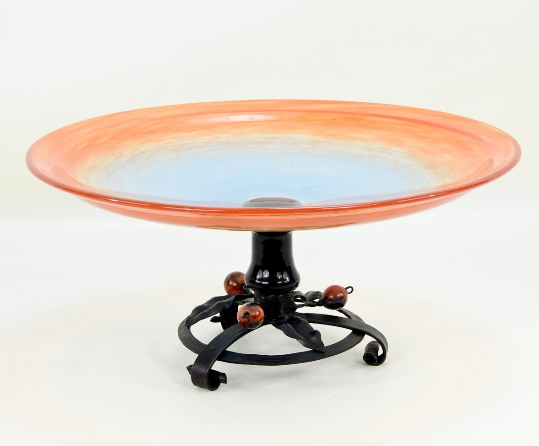 Art Glass Console Bowl