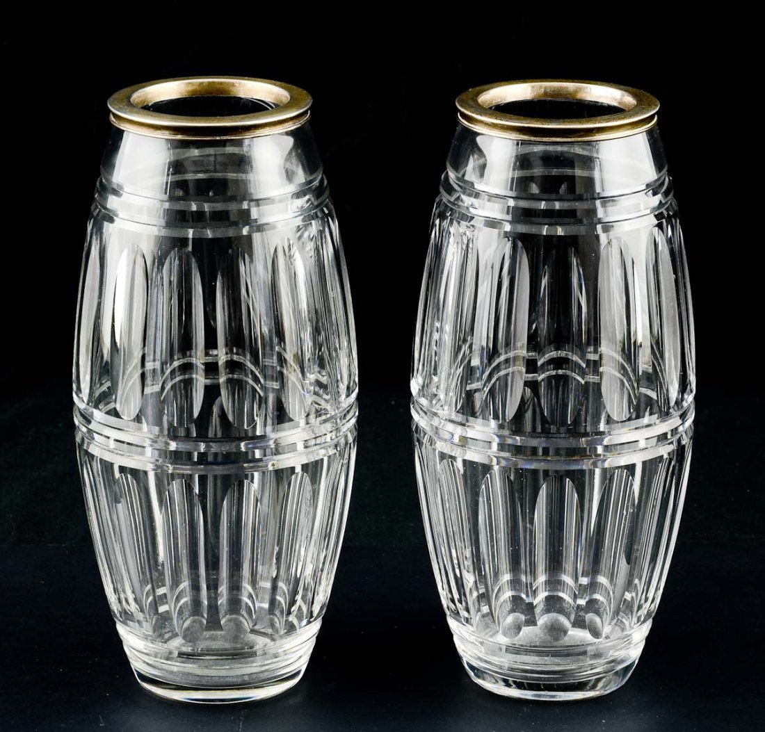 Pair of Hawkes Cut Glass Vases