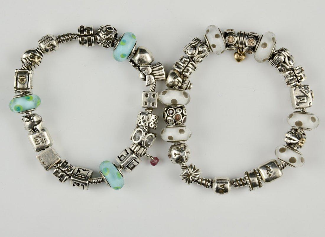 Pandora Charm Necklace and 3 Bracelets - 3
