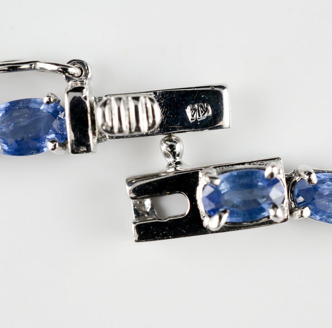 Ladies 14K Diamond & Sapphire Necklace - 3